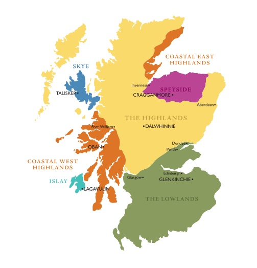 Scotland whisky regions