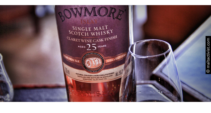 Bowmore 25 Claret Wine,Bowmore Vintage Feis Ile 25 Years Old,bowmore 25,bowmore 25 claret wine,bowmore 25 2016,bowmore 25 feis ile 2016,feis ile 2016,whisky festival,bowmore 25,tasting notes,review,whisky,whisky review,whisky tasting,single malt,single malt review,single malt tasting notes,bowmore,bowmore 25 claret wine tasting notes,bowmore 25 claret wine review